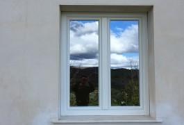 finestra pvc bianca vista esterna